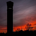 The Tower @ Dawn - Square Silhouette by Chris Bordeleau