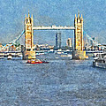 The Tower Bridge And The Hms Belfast by Digital Photographic Arts