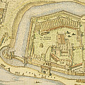 The Tower Of London, From A Survey Made by English School