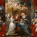 The Triptych Of Saint Ildefonso Altar by Peter Paul Rubens