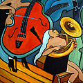 The Tuba Player by Valerie Vescovi