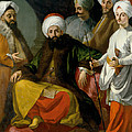The Turkish Ambassador And His Entourage At The Court Of Naples by Giuseppe Bonito