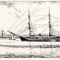 The Turkish Frigate Ertogrul Lost Off The Coast Of Japan by Japanese School