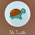 The Turtle Cute Portrait by Florian Rodarte