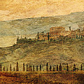 The Tuscan Landscape Near Pienza by Greg Matchick