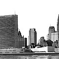 The Un And Chrysler Buildings by Underwood Archives