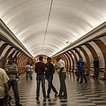 The Underground 1 - Victory Park Metro - Moscow by Madeline Ellis