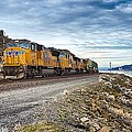 The Union Pacific Railroad Columbia River Gorge Oregon by Michael Rogers