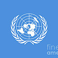 The United Nations Flag  Authentic Version by Bruce Stanfield