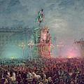 The Unveiling Of The Nicholas I Memorial In St. Petersburg by Vasili Semenovich Sadovnikov