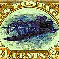 The Upside Down Biplane Stamp - 20130119 - V3 by Wingsdomain Art and Photography