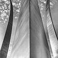 The Usaf Memorial In Black And White by JC Findley