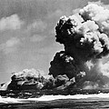 The Uss Wasp Burning by Everett