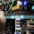 The Venice Cafe' Outdoor Garden by Kelly Awad