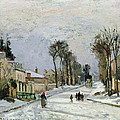 The Versailles Road At Louveciennes by Camille Pissarro