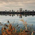 The View Across Jko Reservoir Central Park New York by Silvio Ligutti