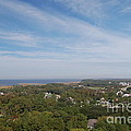 The View From The Top Of Currituck Beach Lighthouse  by Anne Marie Corbett