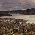 The Village Of Cold Spring And The Hudson River by Chris Lord