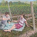 The Vineyard Picnic by Gary M Long