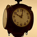 The Vintage Town Clock by Bobbee Rickard