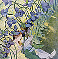 The Violets Lively Flowers by Firmin Bouisset