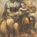 The Virgin And Child With Saint Anne And The Infant Saint John The Baptist by Leonardo Da Vinci