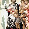 The Virgin And Child With Saint John And Angels by Michelangelo Buonarroti