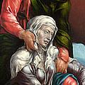 The Virgin And Saint John The Evangelist by Maerten van Heemskerck