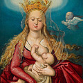 The Virgin As Queen Of Heaven Suckling The Infant Christ by Hans Baldung Grien