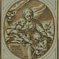 The Virgin, Child by Coriolano, Bartolomeo (c.1599-c.1676), Italian