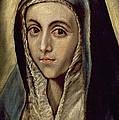 The Virgin Mary by El Greco Domenico Theotocopuli
