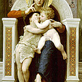 The Virgin The Baby Jesus And Saint John The Baptist by William Bouguereau