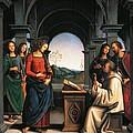 The Vision Of St Bernard by Pietro Perugino