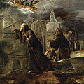 The Vision Of St Francis Of Paola by Jose Jimenez Donoso