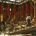 The Visit Of The Queen Of Sheba To King Solomon by Edward John Poynter