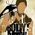 The Walking Dead Inspired Daryl Dixon Typographic Artwork by Inspirowl Design
