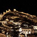 The Walls Of Albarracin In The Summer Night Spain by Weston Westmoreland
