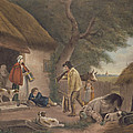 The Warrener, Engraved By William Ward 1766-1826, Pub. By H. Morland, 1806 Mezzotint Engraving by George Morland