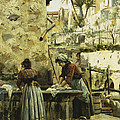 The Washerwomen by Peder Monsted
