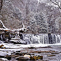 The Waterfall Near Valley Green In The Snow by Bill Cannon
