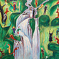 The Waterfall by Nils Dardel