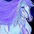 The White And Purple Horse 1 by Saundra Myles