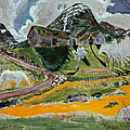 The White Horse In Spring  by Nikolai Astrup