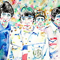 The Who - Watercolor Portrait by Fabrizio Cassetta
