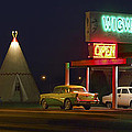 The Wigwam Motel On Route 66 Panoramic by Mike McGlothlen
