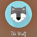 The Wolf Cute Portrait by Florian Rodarte