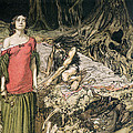 The Wooing Of Grimhilde The Mother Of Hagen From 'siegfried And The Twilight Of The Gods by Arthur Rackham