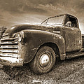 The Workhorse In Sepia - 1953 Chevy Truck by Gill Billington