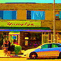 The Yangtze Chinese Food Restaurant On Van Horne Montreal Memories Cafe Street Scene Carole Spandau  by Carole Spandau