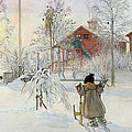 The Yard And Wash House by Carl Larsson